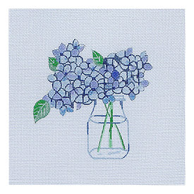 All About Stitching Sara Fitz Needlepoint Kit - Hydrangea
