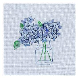 All About Stitching Sara Fitz Needlepoint Kit - Hydrangea
