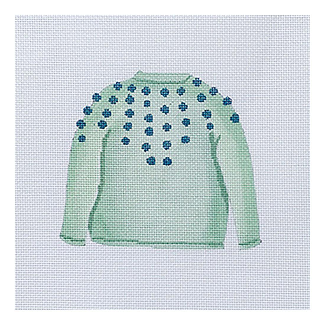 All About Stitching Sara Fitz Needlepoint Kit - Mint Pom Sweater