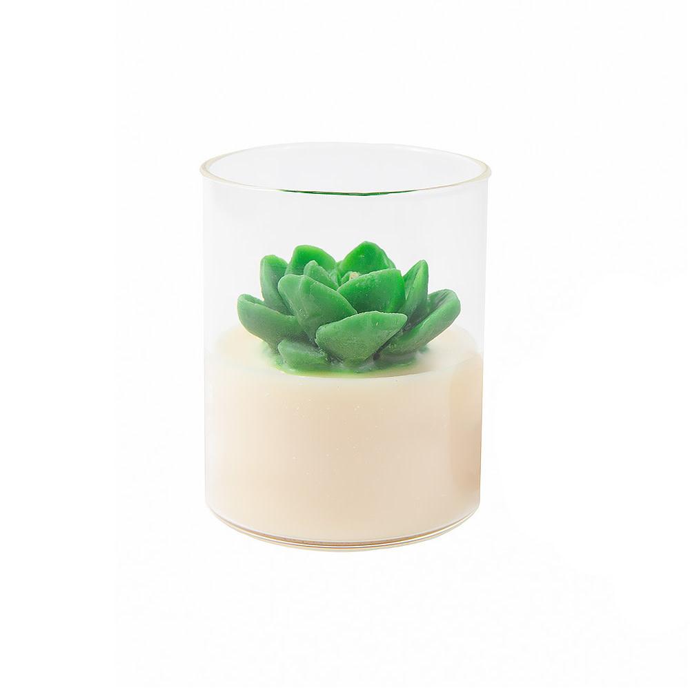 Zoet Studio Zoet Studio Succulent Container Candle - Green