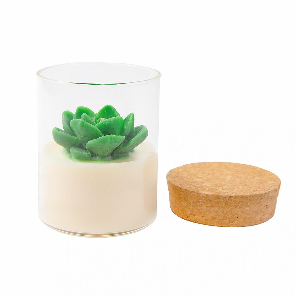 Zoet Studio Succulent Container Candle - Green