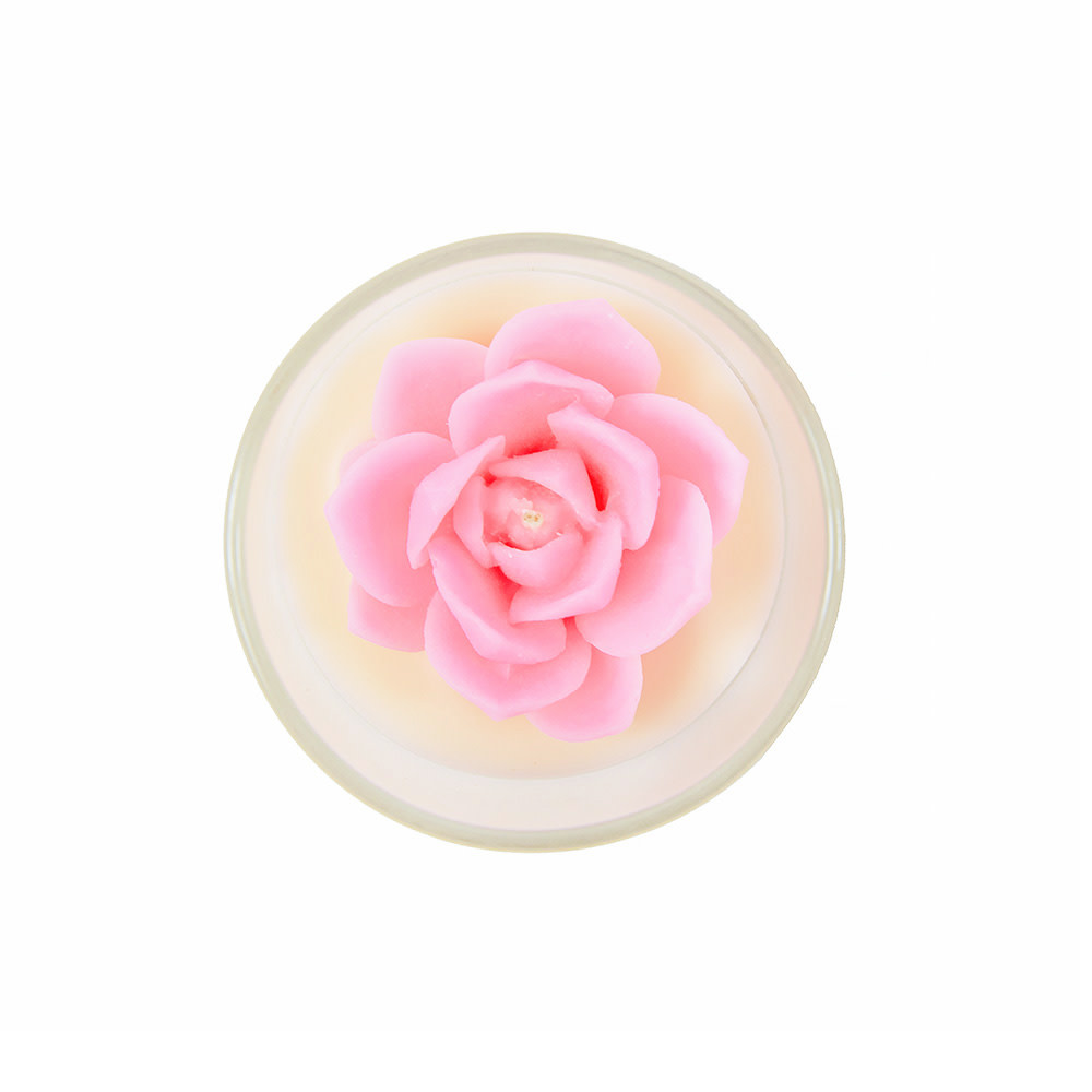 Zoet Studio Succulent Container Candle - Pink