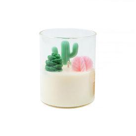 Zoet Studio Zoet Studio Cactus with Succulent Container Candle