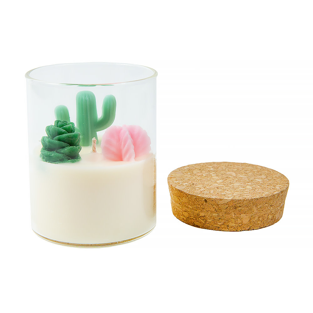 Zoet Studio Cactus with Succulent Container Candle