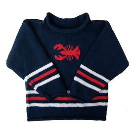 Baloo Baleerie Baby Baloo Baleerie Baby Sweater - Lobster - Navy/White/Red