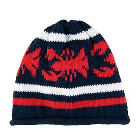 Baloo Baleerie Baby Baloo Baleerie Knit Hat - Lobster - Navy/White/Red