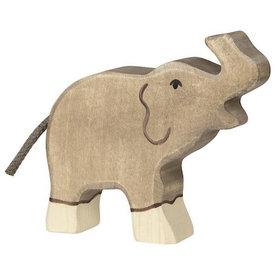 Holztiger Holztiger Wooden Elephant Baby - Raised Trunk