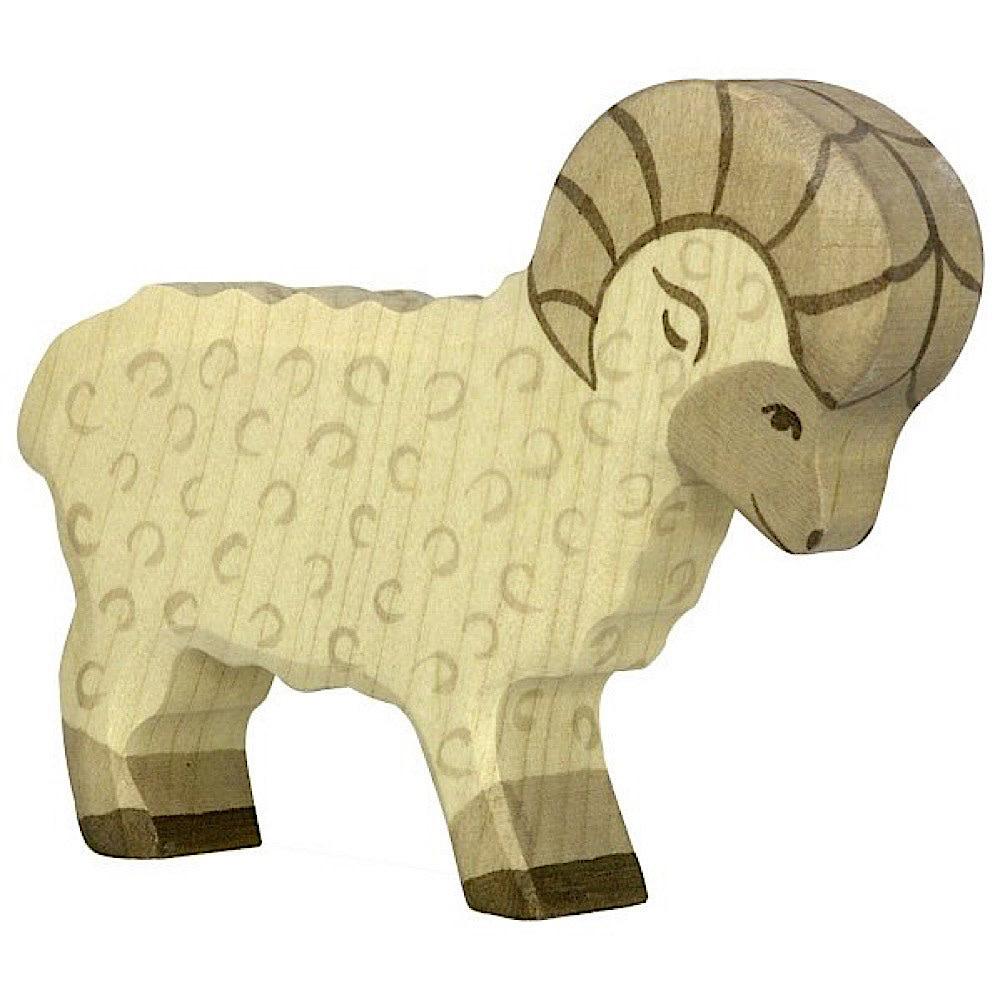 Holztiger Wooden Sheep - White Ram