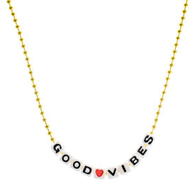 Gunner & Lux Gunner & Lux Good Vibes Necklace