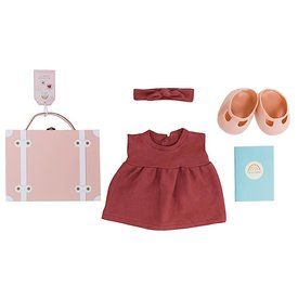 Olli Ella Olli Ella Dinkum Doll Travel Togs - Rose