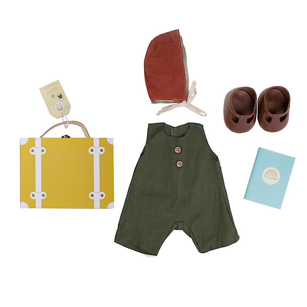 Olli Ella Olli Ella Dinkum Doll Travel Togs - Mustard