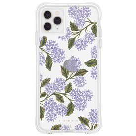 Rifle Paper Co. Rifle Paper Co. iPhone 11 Pro, XS/X Case - Clear Hydrangea Blue