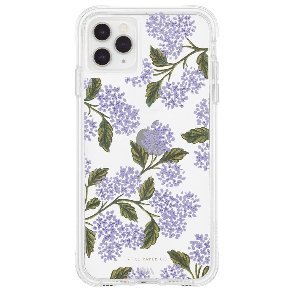 Rifle Paper Co. iPhone 11 Pro, XS/X Case - Clear Hydrangea Blue
