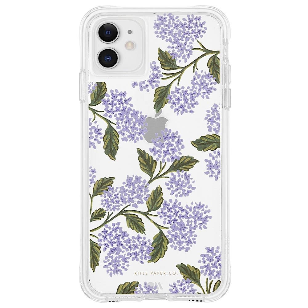 Rifle Paper Co. Rifle Paper Co. iPhone 11, XR Case - Clear Hydrangea Blue