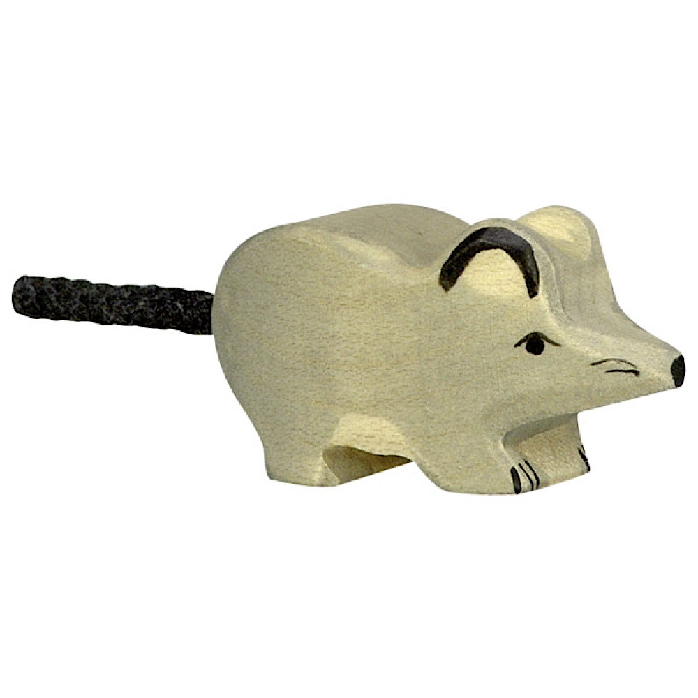 Holztiger Wooden Mouse - Grey