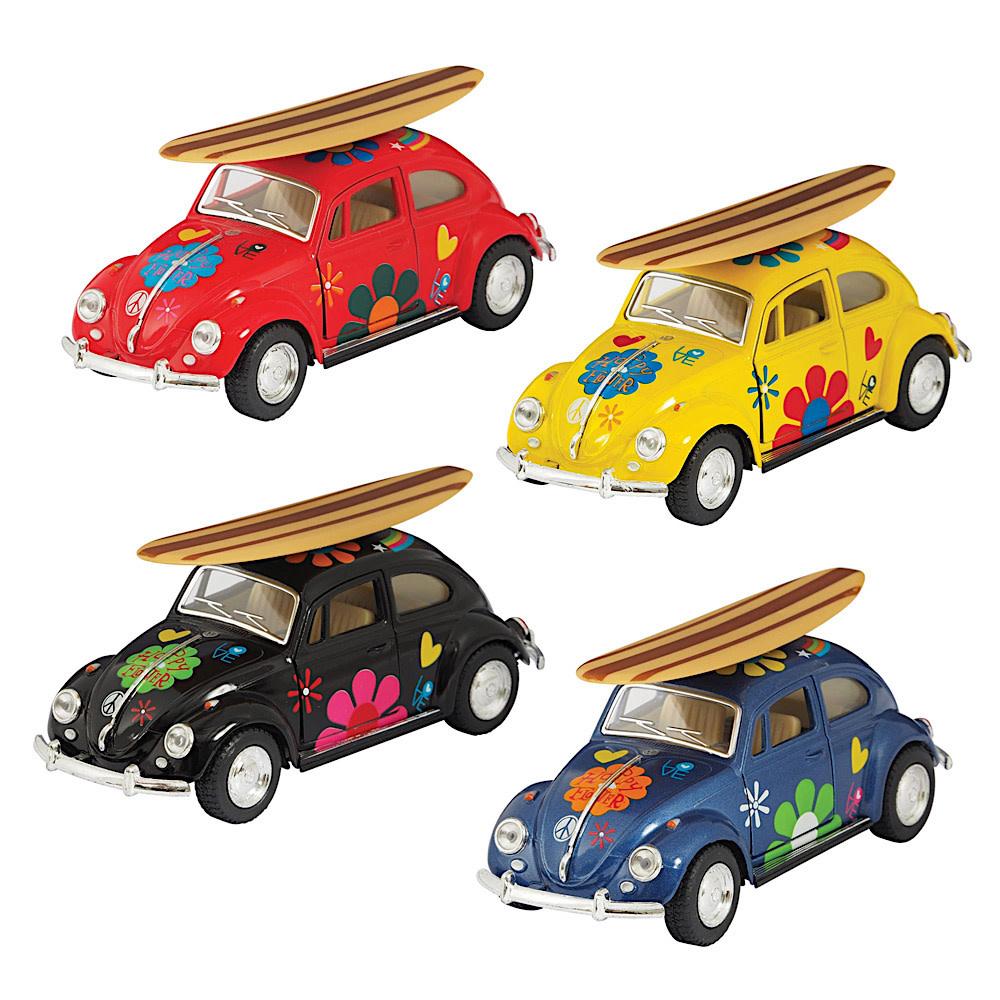 Die Cast VW Beetle W/Surfboard