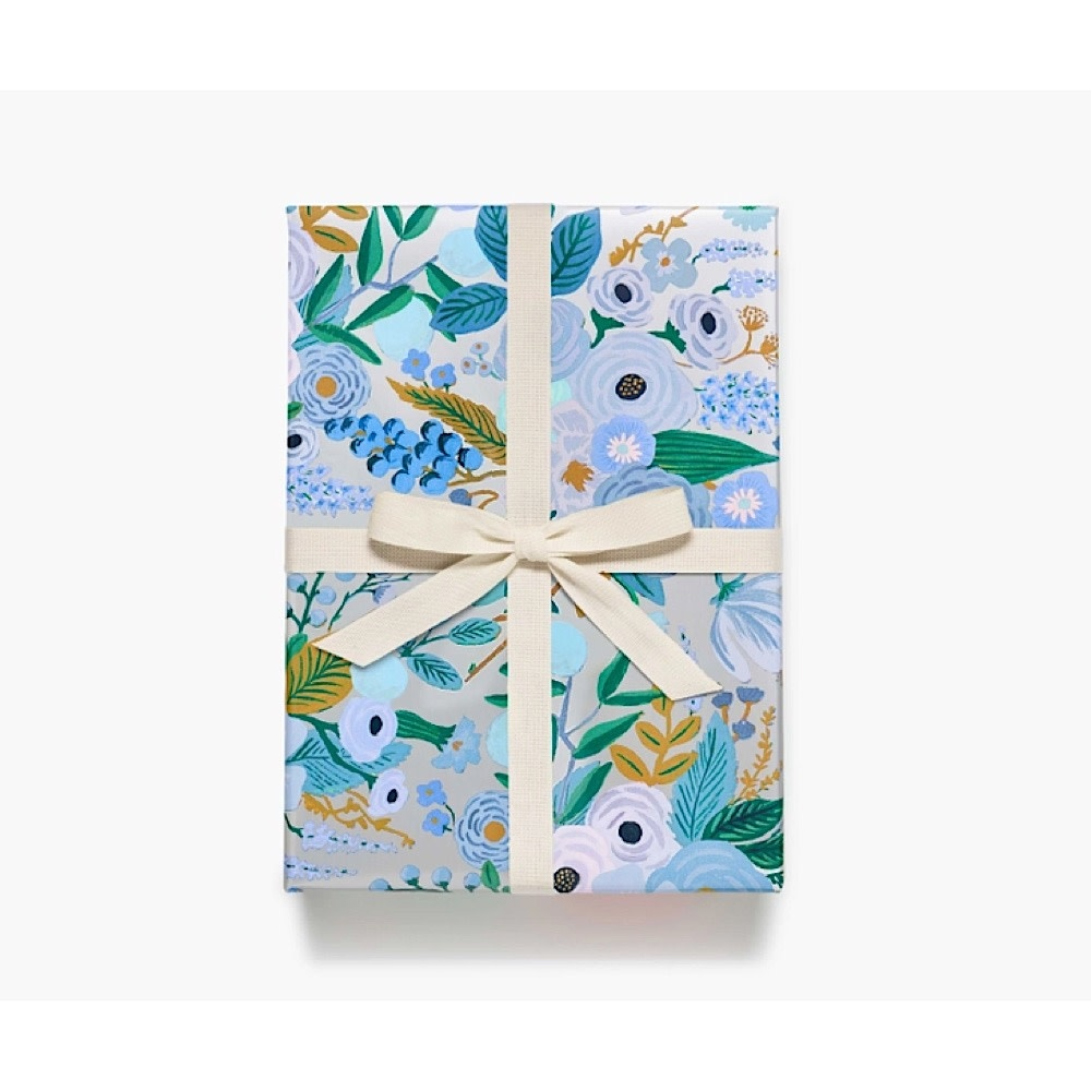Rifle Paper Co. Continuous Wrapping Paper - Garden Party Blue