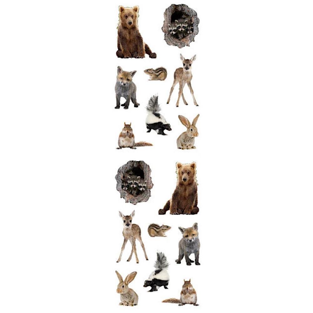 Mrs. Grossman's Mrs. Grossmans Stickers - Baby Woodland Animals Strip