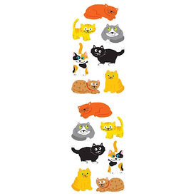 Mrs. Grossman's Mrs. Grossmans Stickers - Chubby Cats Strip