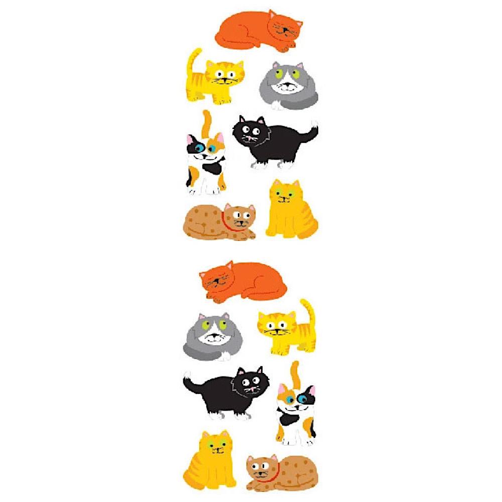 Mrs. Grossmans Stickers - Chubby Cats Strip
