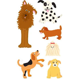 Mrs. Grossman's Mrs. Grossmans Stickers - Playful Dogs Strip