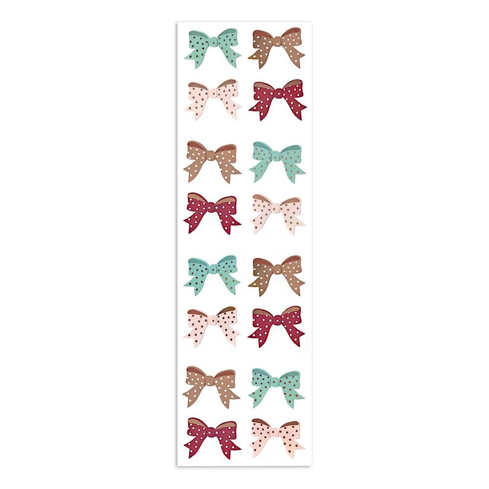 Mrs. Grossmans Stickers - Rose Gold Bows Strip