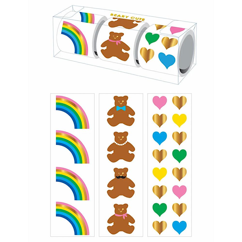 Mrs. Grossman's Mrs Grossmans 3 Roll Sticker Gift Box - Beary Cute