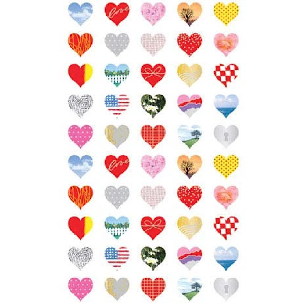 Mrs. Grossman's Mrs. Grossmans Stickers - 25th Anniversary Hearts, Reflections Strip