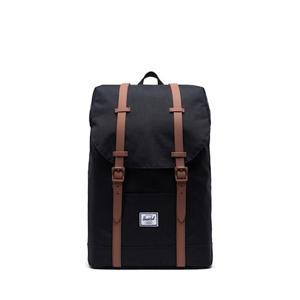 Herschel Retreat Youth Backpack - Black/Saddle Brown