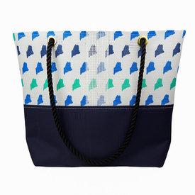 Alaina Marie Alaina Marie Bait Bag Tote - Custom Maine Ombre Blue