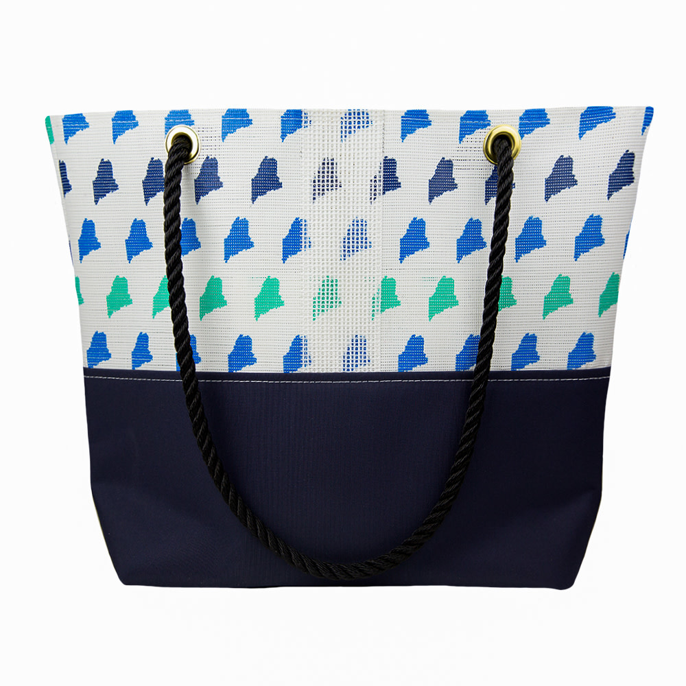 Alaina Marie Bait Bag Tote - Custom Maine Ombre Blue