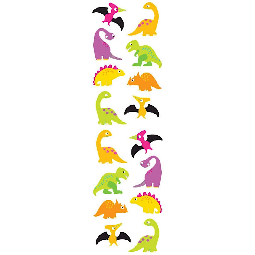 Mrs. Grossmans Stickers - Chubby Dinosaurs Strip