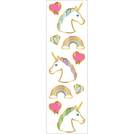 Mrs. Grossman's Mrs. Grossmans Stickers - Unicorn Portraits Strip