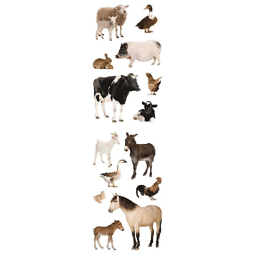 Mrs. Grossmans Stickers - Barnyard Animals Strip