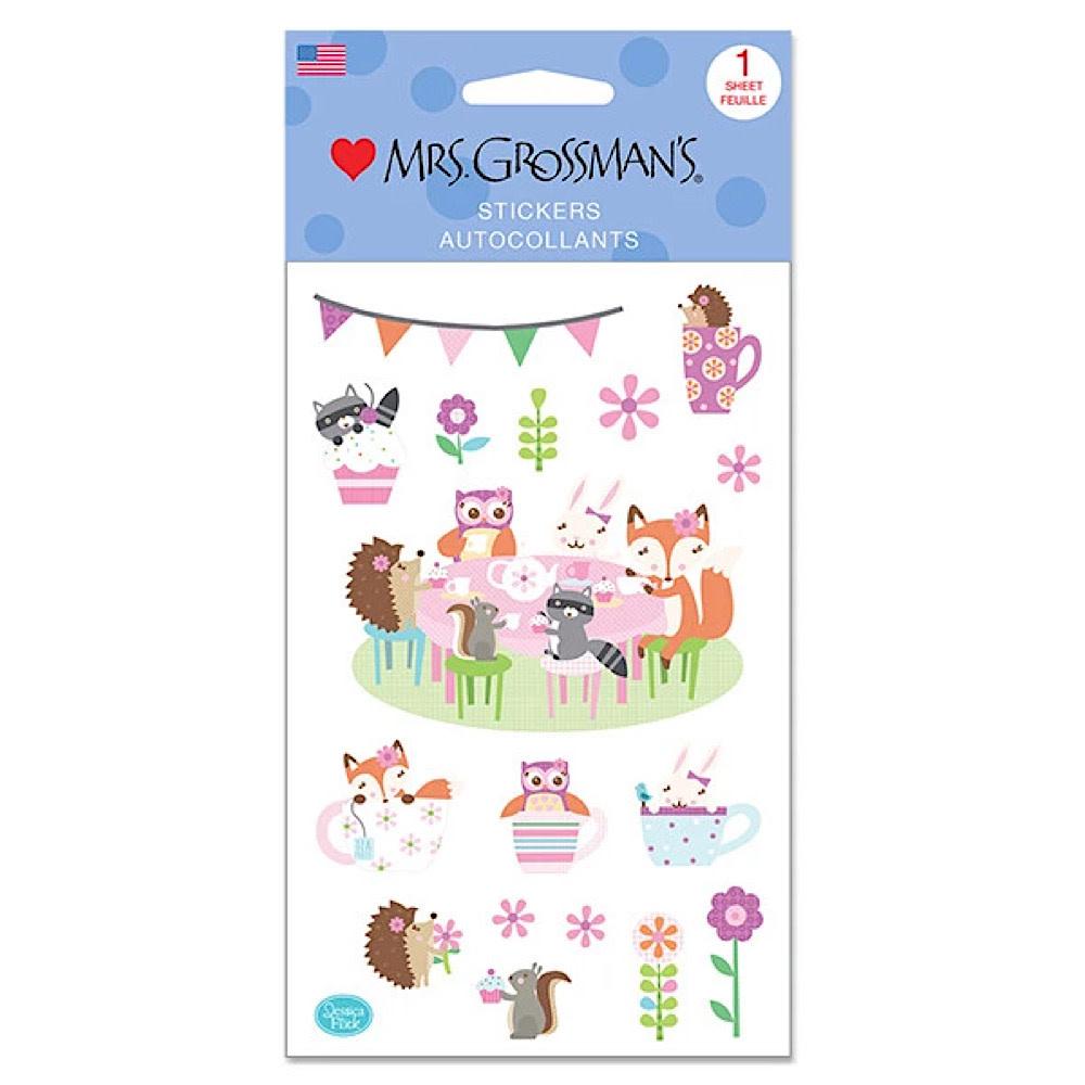 Mrs. Grossmans Stickers - Woodland Tea Party Strip