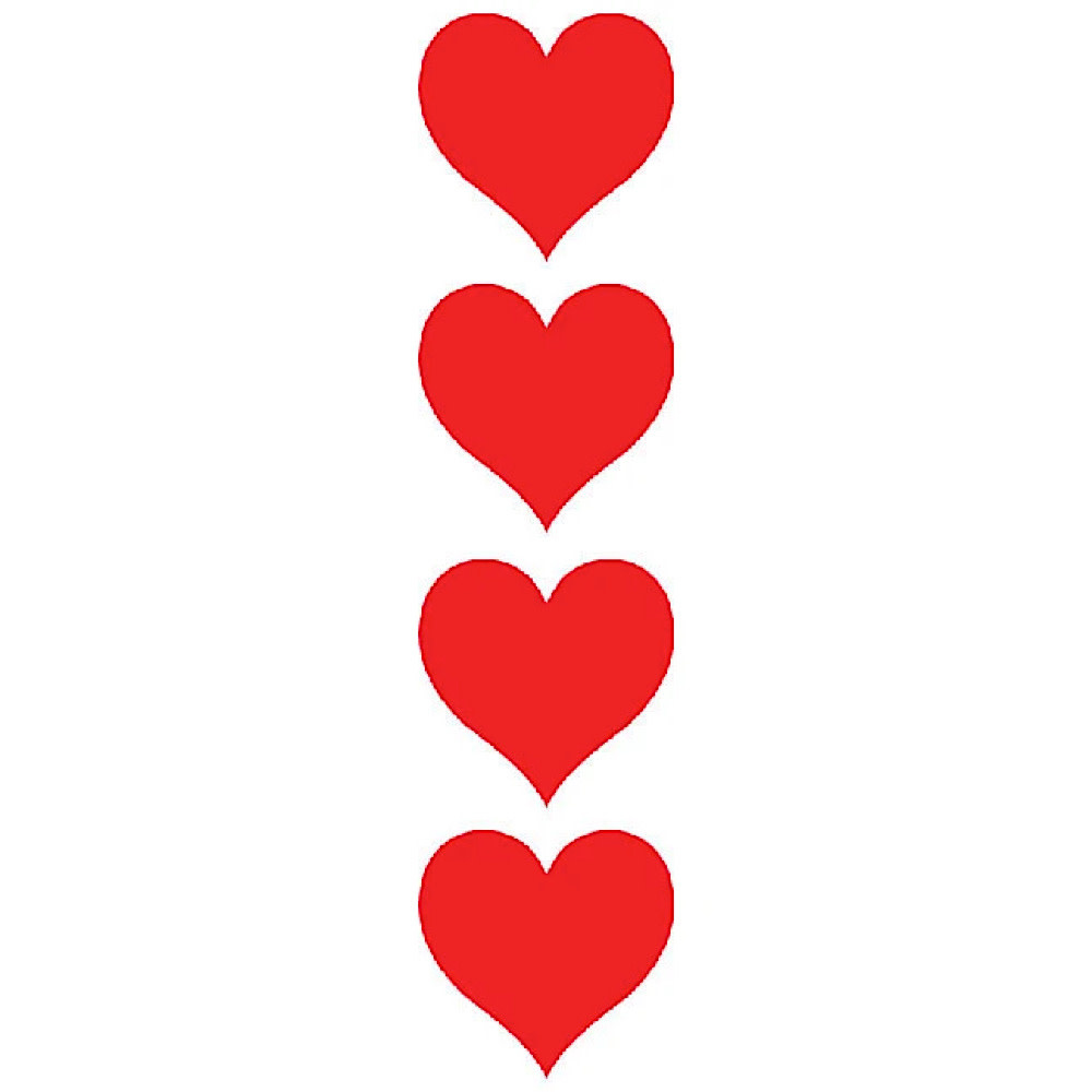 Mrs. Grossman's Mrs. Grossmans Stickers - Red Hearts Strip