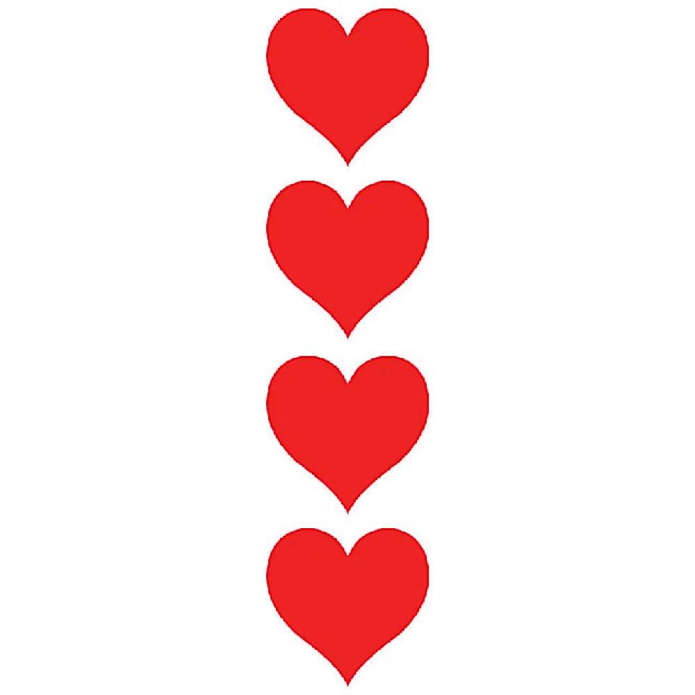 Mrs. Grossmans Stickers - Red Hearts Strip