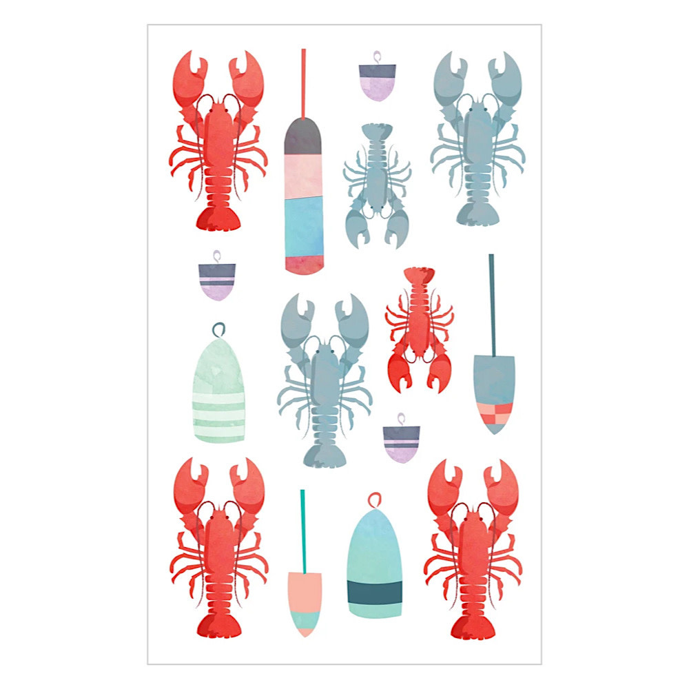 Mrs. Grossmans Stickers - Watercolor Lobsters Strip