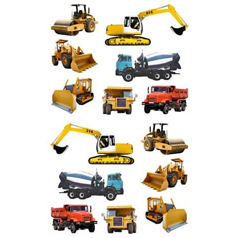 Mrs. Grossmans Stickers - Tractors & Trucks Strip