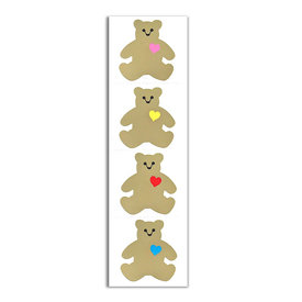 Mrs. Grossman's Mrs. Grossmans Stickers - Gold Classic Bear Strip