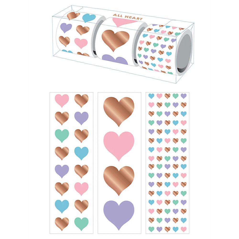 Mrs. Grossman's Mrs Grossmans 3 Roll Sticker Gift Box - All Heart