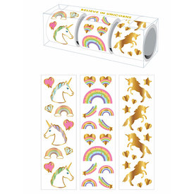 Mrs. Grossman's Mrs Grossmans 3 Roll Sticker Gift Box - Believe in Unicorns