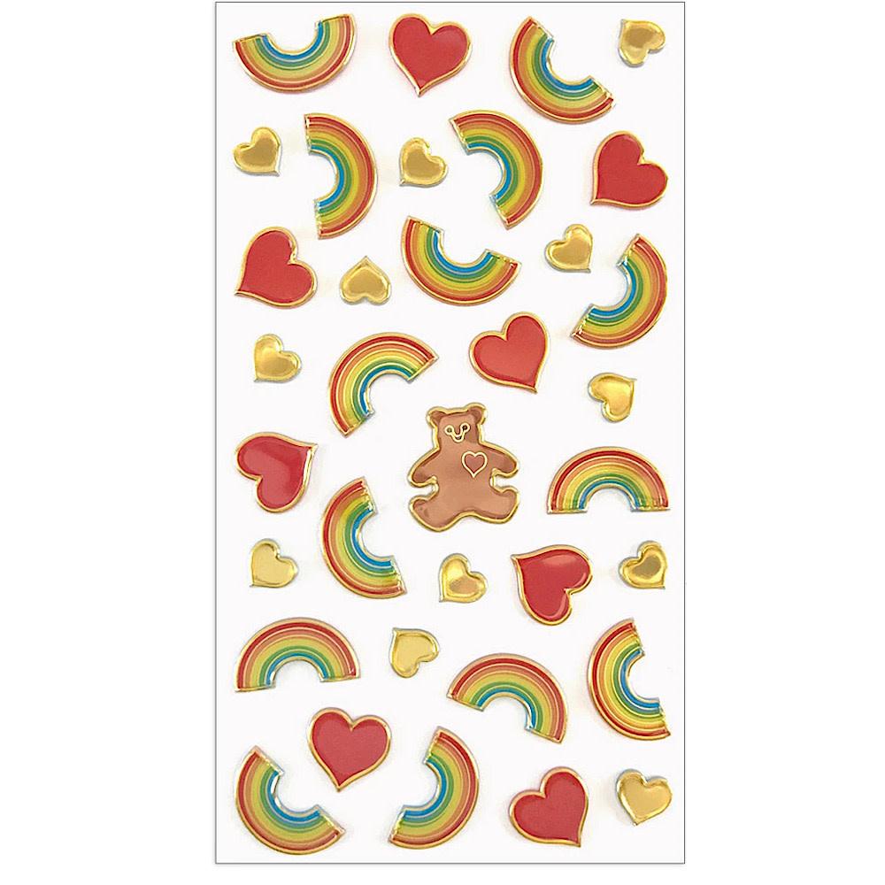 Mrs. Grossmans Stickers - I Heart Rainbows Puffies