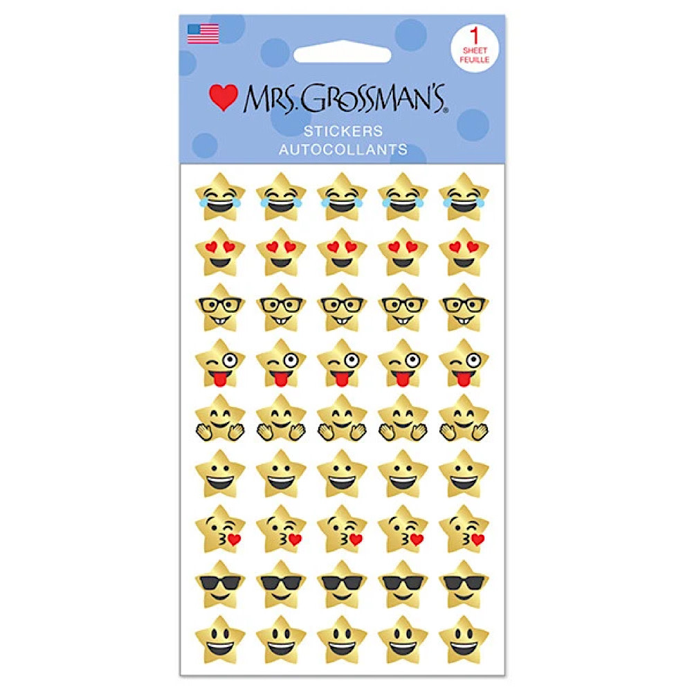 Mrs. Grossman's Mrs. Grossmans Stickers - Star Emotions Strip
