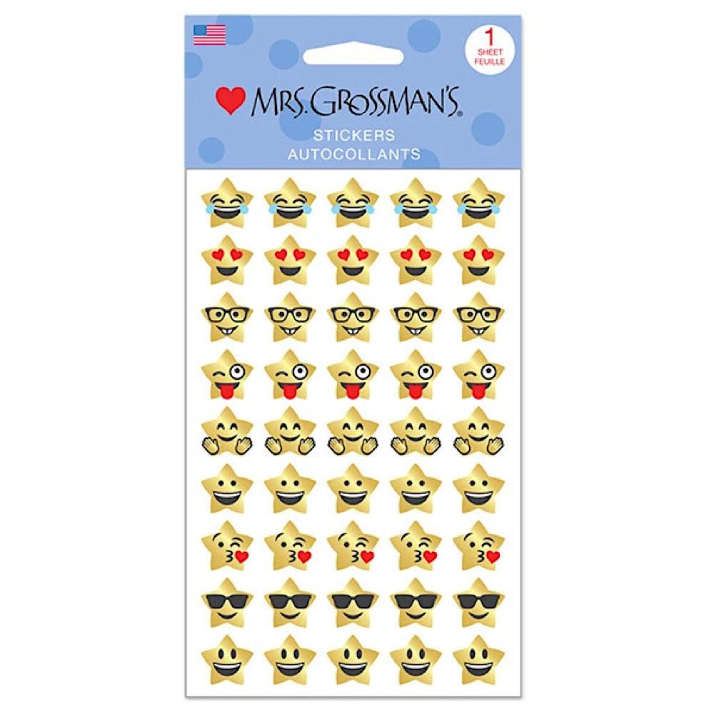 Mrs. Grossmans Stickers - Star Emotions Strip