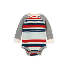 Burt's Bees Burt's Bees Thermal Multi Stripe Bodysuit - Morning Mist