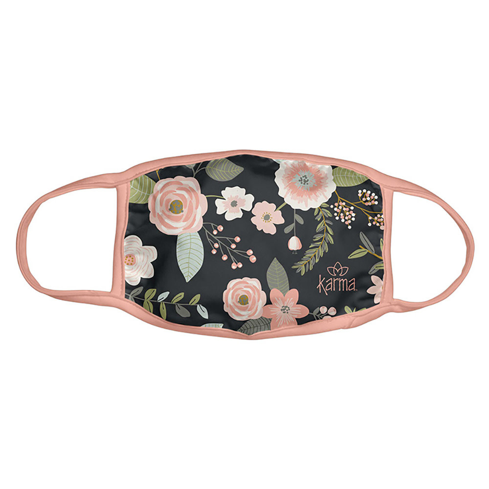 Karma Face Mask - Adult - Black Floral
