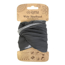 Karma Karma Wide Headband - Grey
