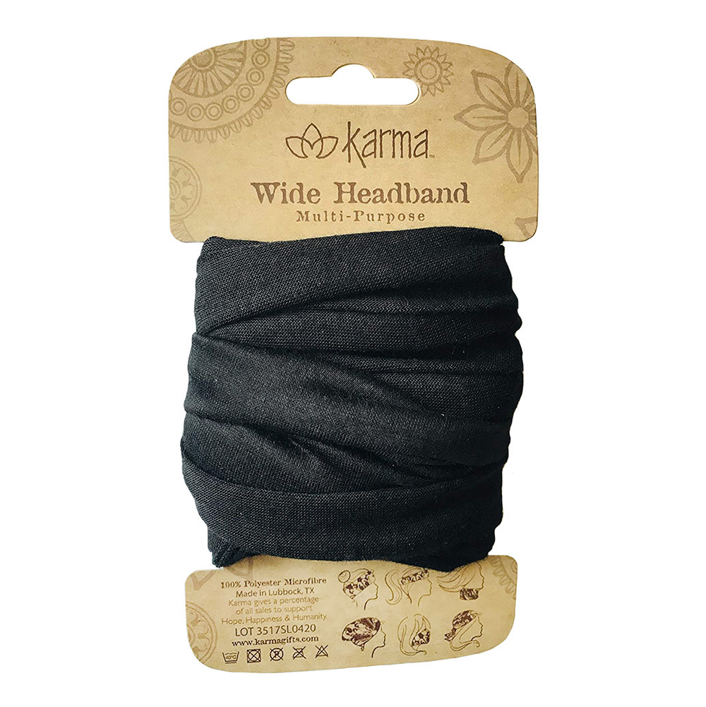 Karma Wide Headband - Black