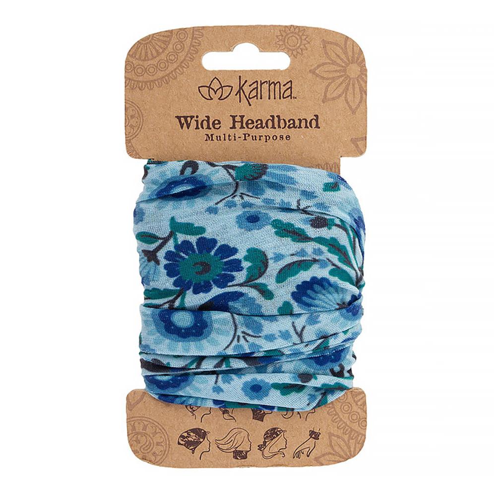 Karma Wide Headband - Teal Floral